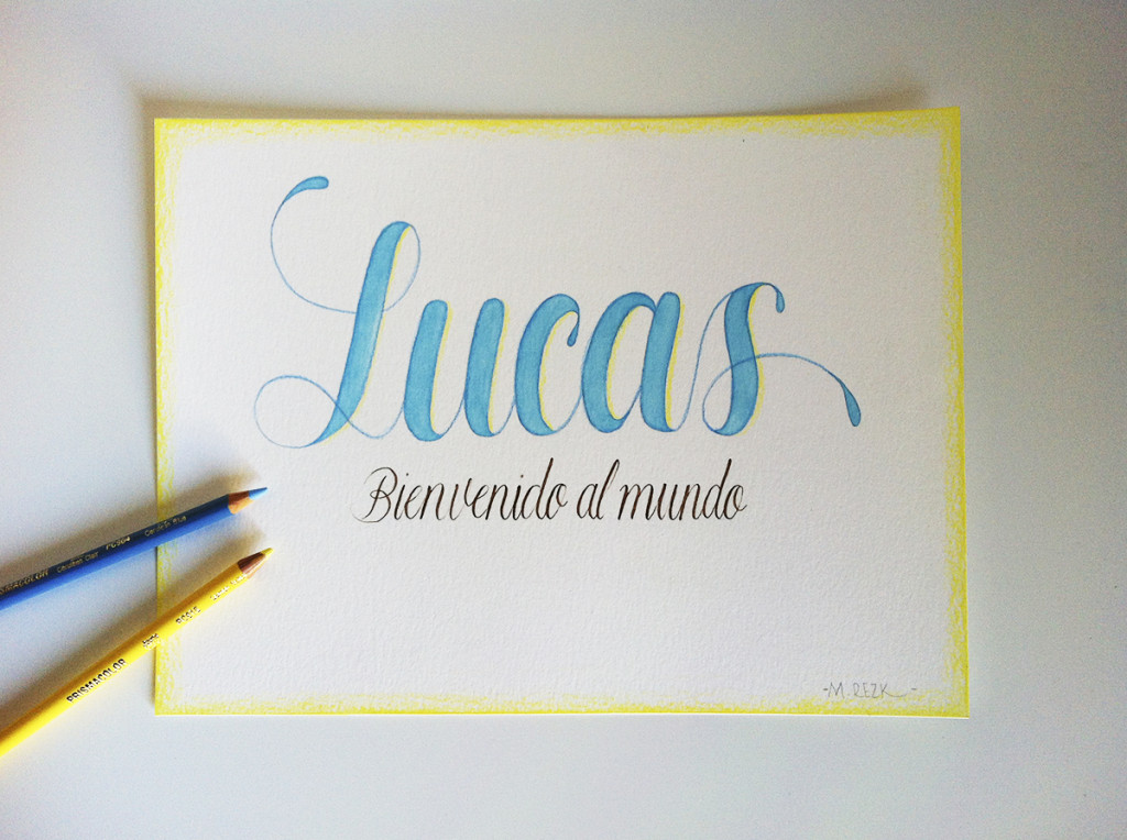 Lettering Lucas