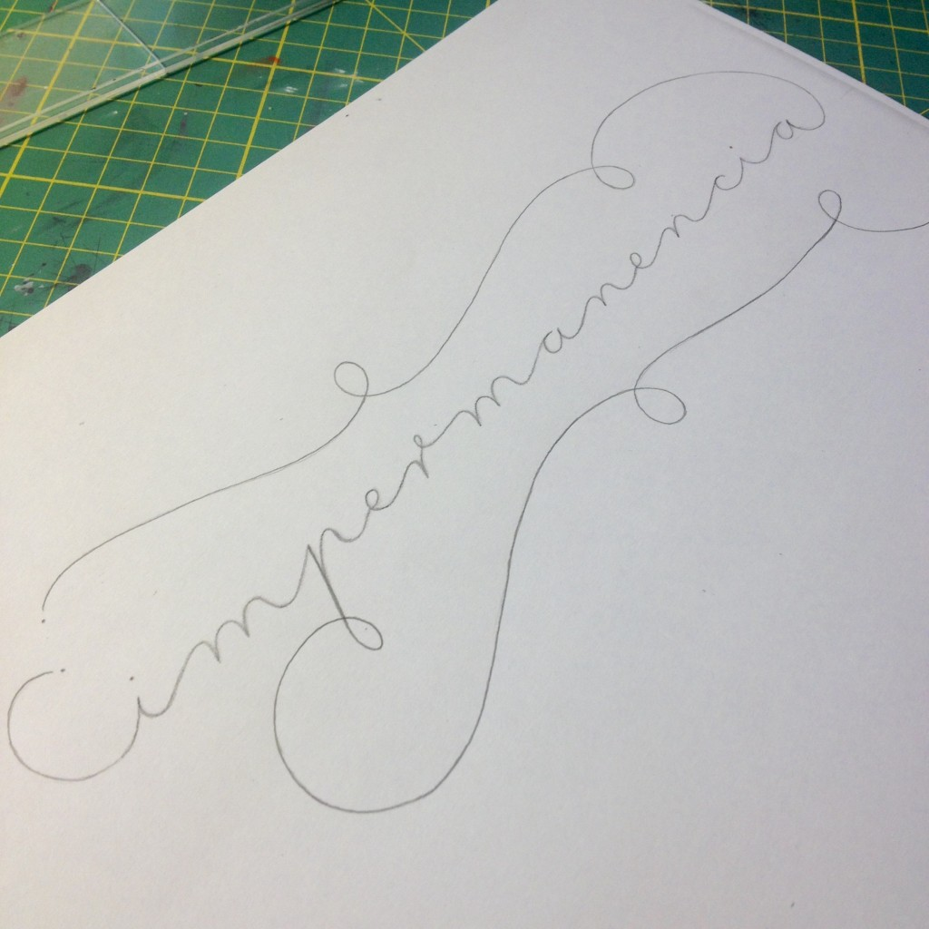 Impermanencia Lettering